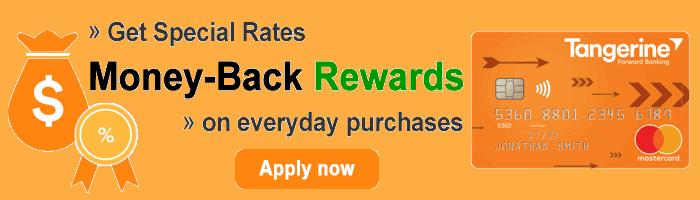 Tangerine Credit Card Promo Banner