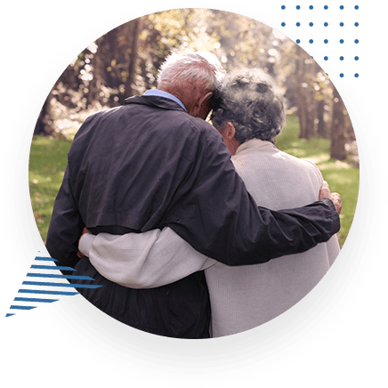 Healthy Elderly Couple Hugging