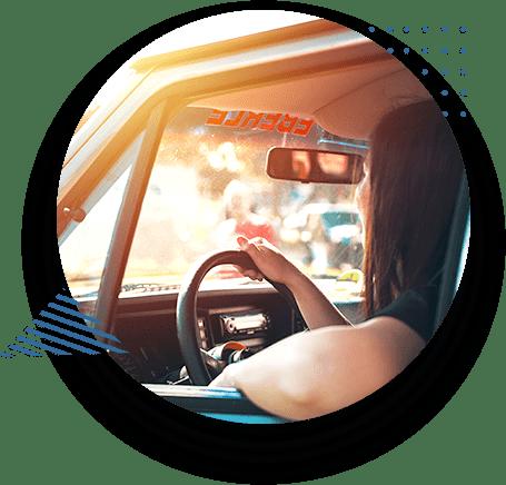 Woman Driving New Car