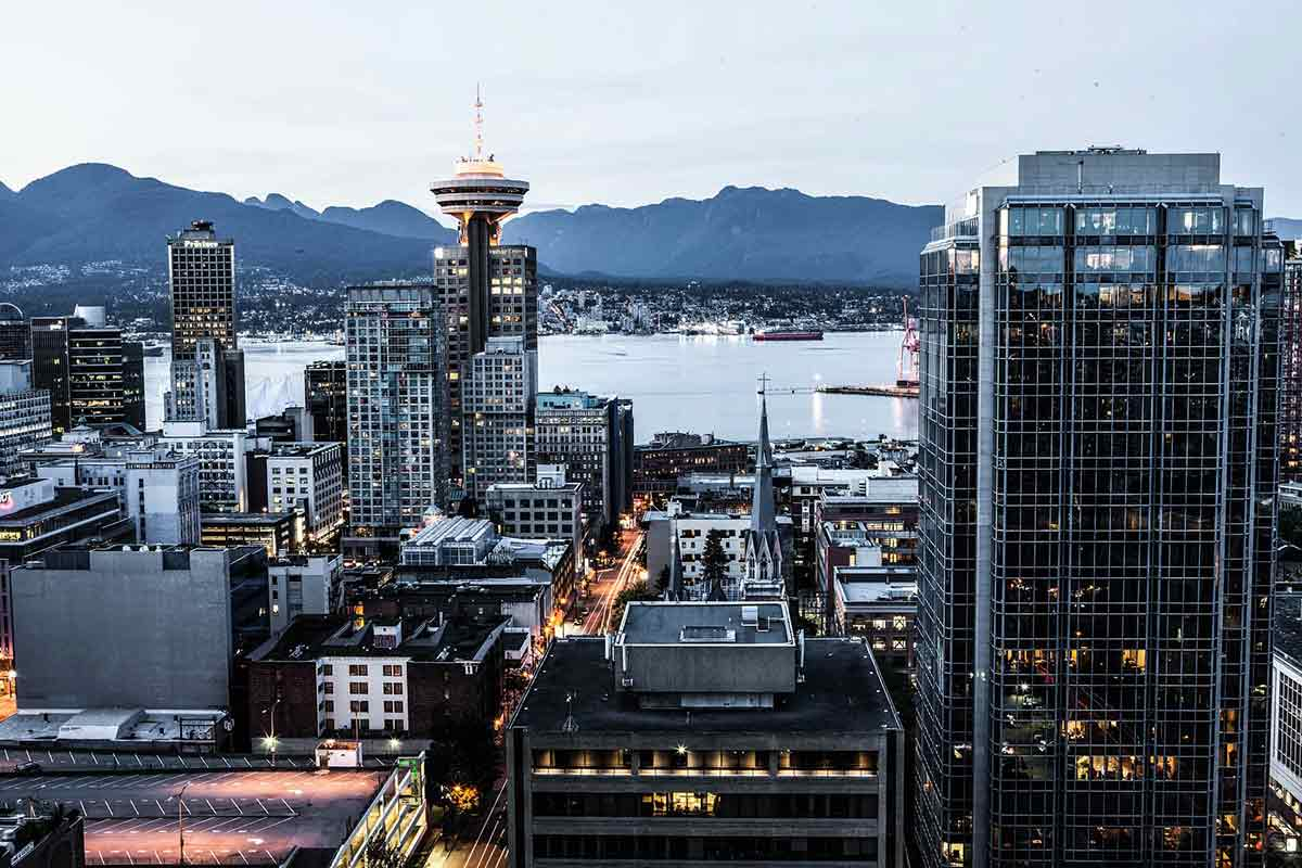 Vancouver city downtown view