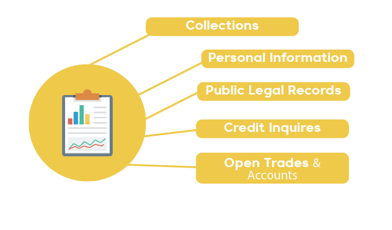 Borrowell Credit Report Graphic