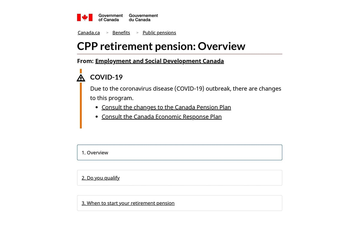 Canada Pension Plan Overview Canada