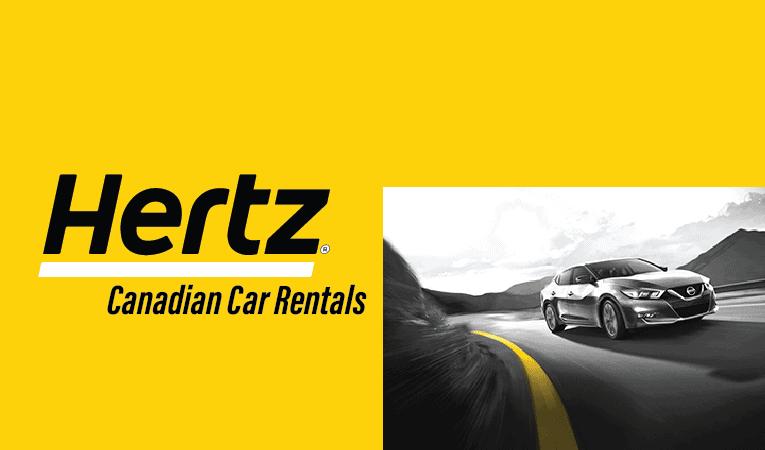 Hertz Rental Car Banner