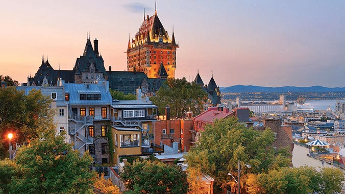 Old Quebec City view