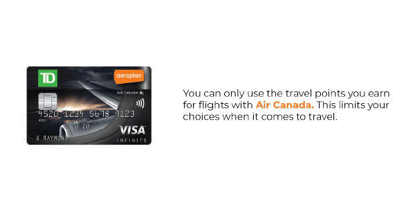 Aeroplan Visa Card Cons Image