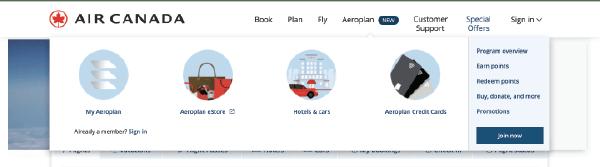Aeroplan Web Image