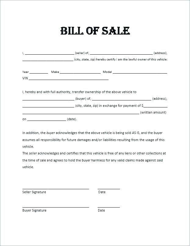 bill of sale image