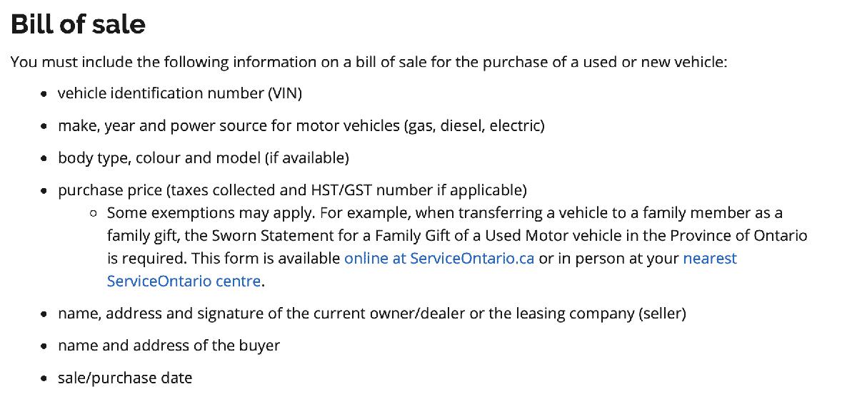 Bill of Sale Info Image