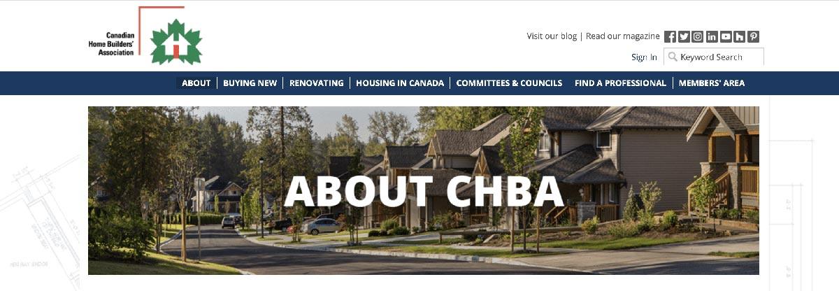 CHBA Website image