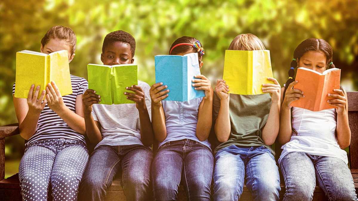 Children Reading Books Image