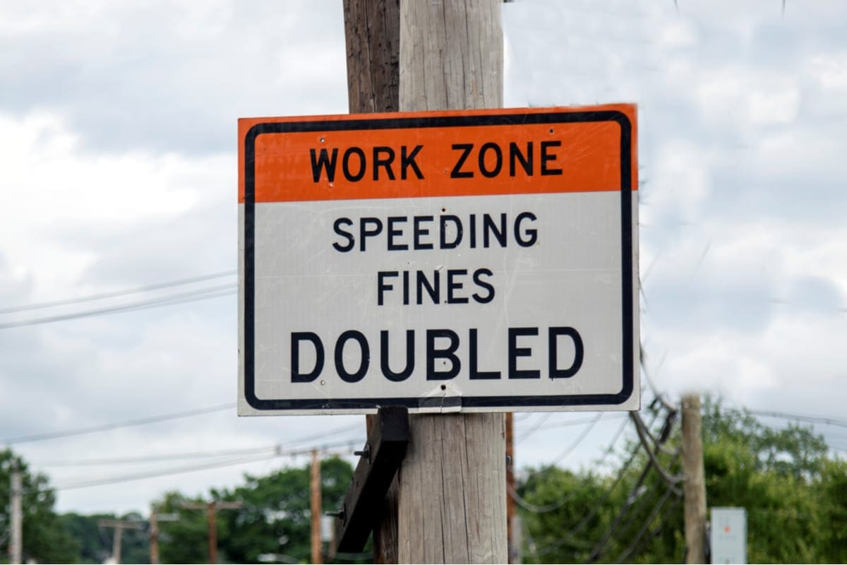 Construction Zone Sign Image