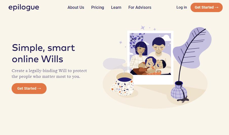 Epilogue Wills Canada website