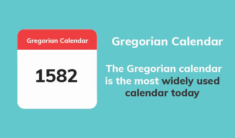Gregorian Calendar Image