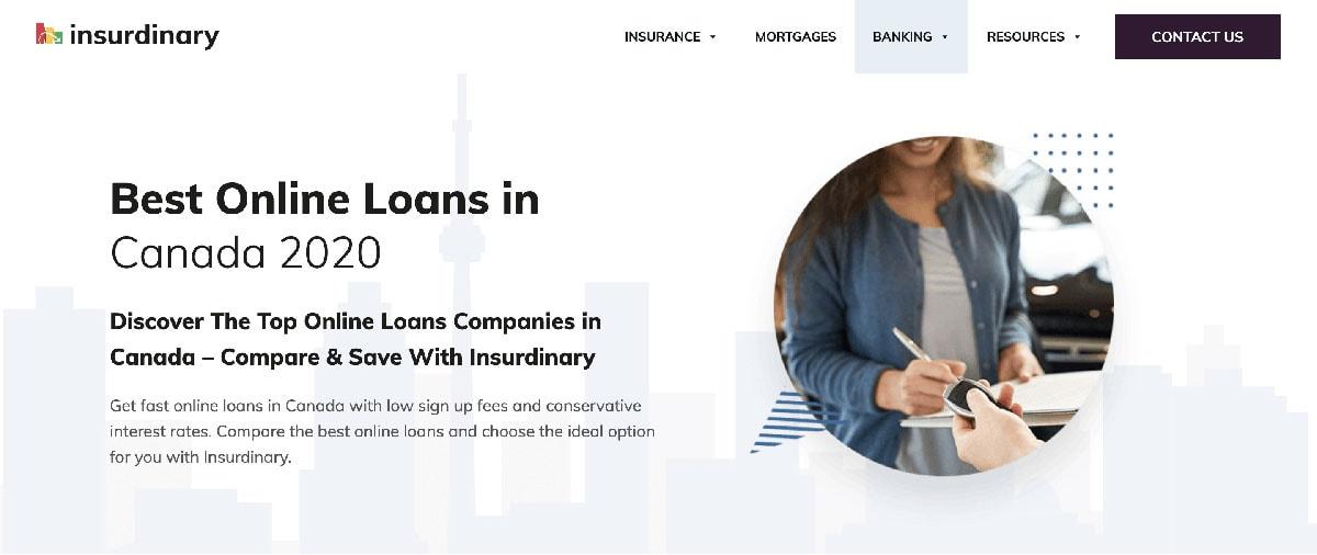 Insurdinary Loans Website Image