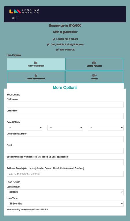 Lending Mate Application