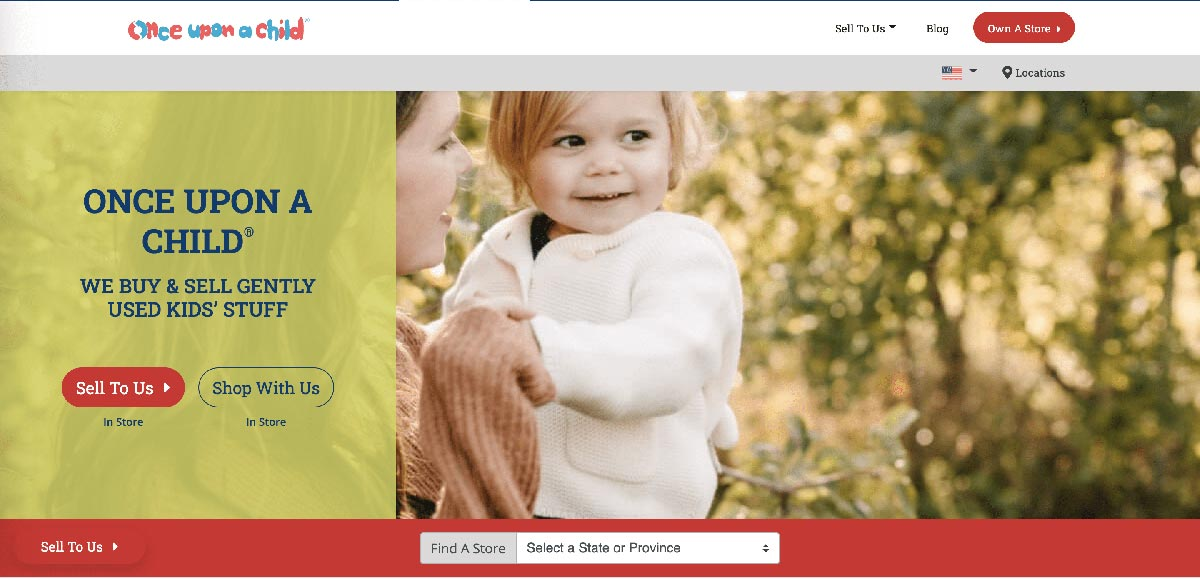 Once Upon A Child Website Image