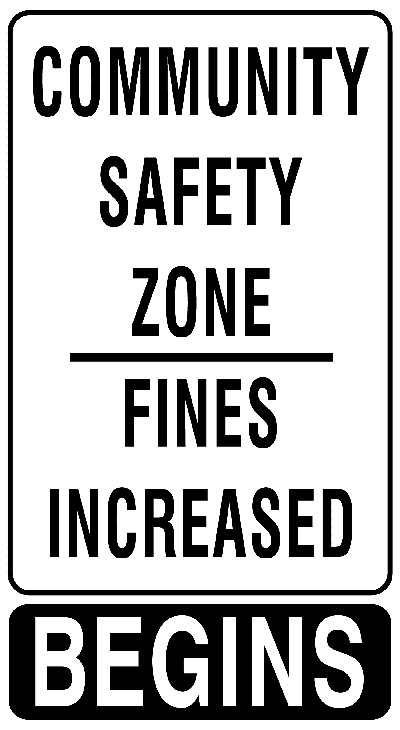 Safe Community Sign