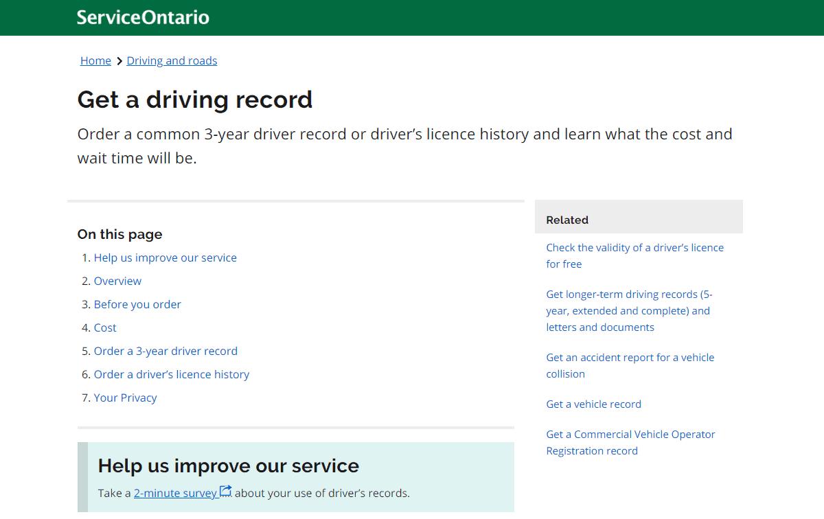 Service Ontario Website image