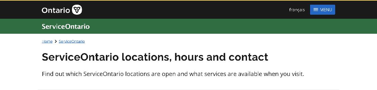 Services Ontario Website Image