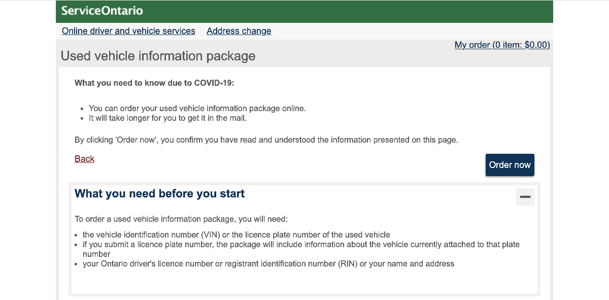 Used Info Package Website Image