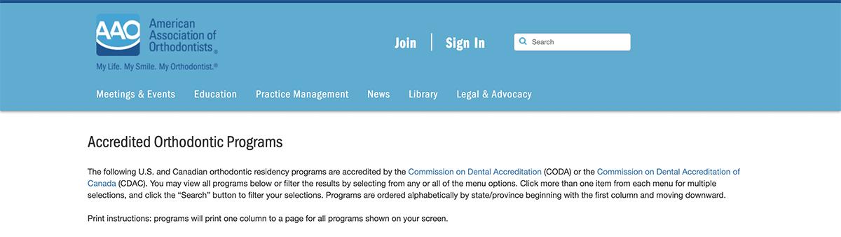 AAO Website Image