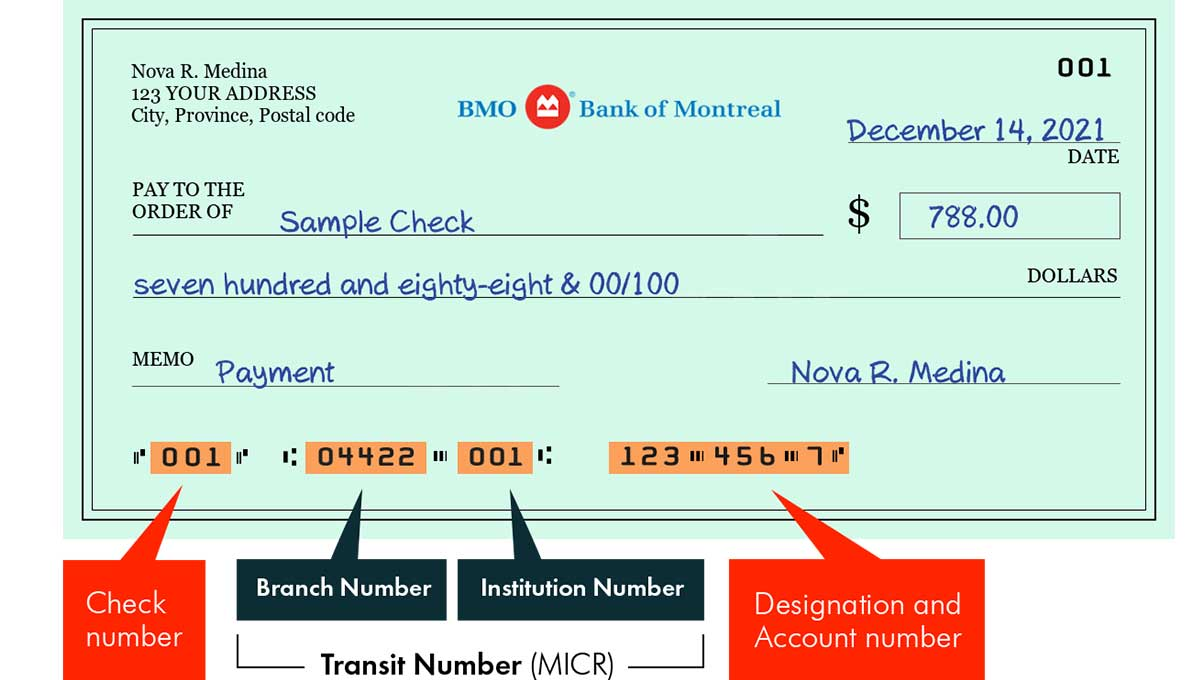 BMO Routing Number