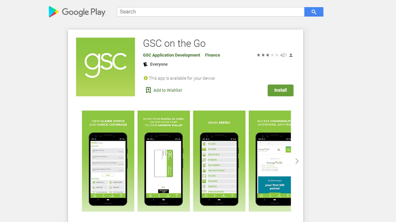green shield insuance app android screenshot