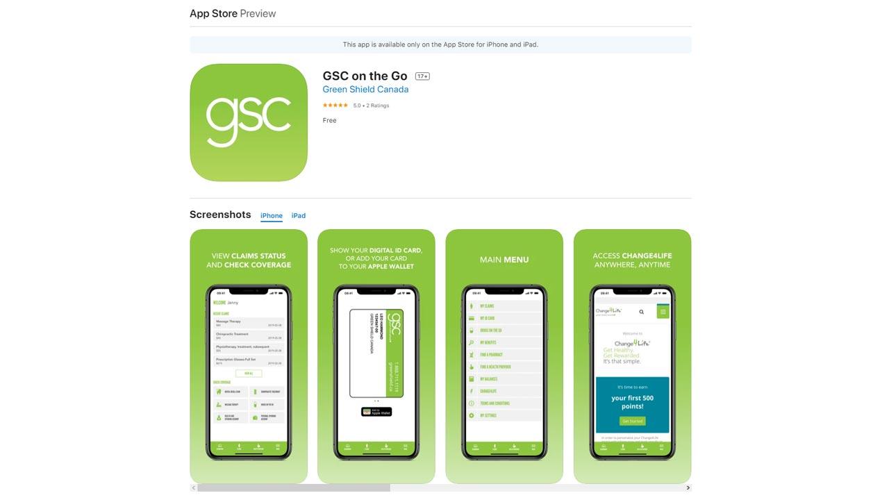 green shield insuance app ios screenshot