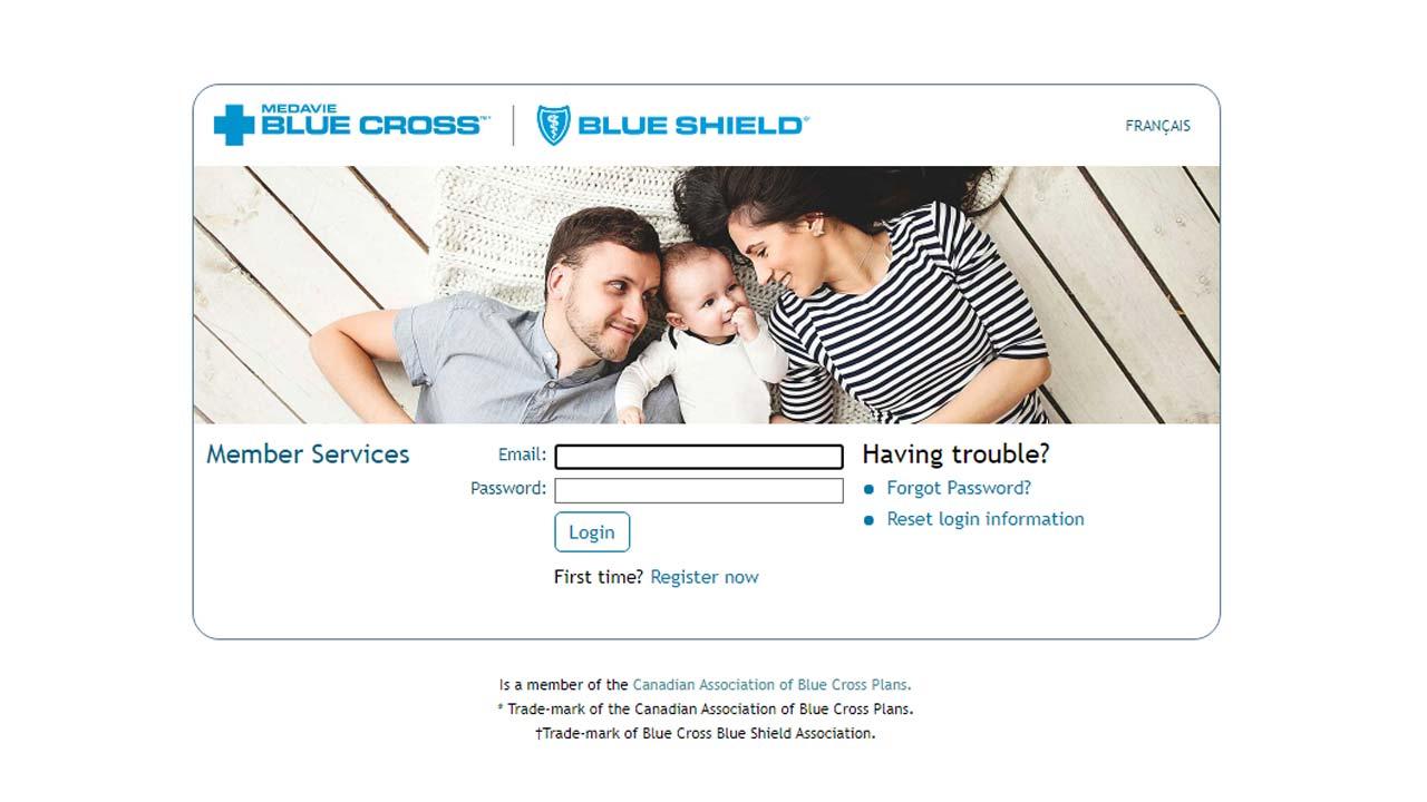 medavie blue cross website login screenshot