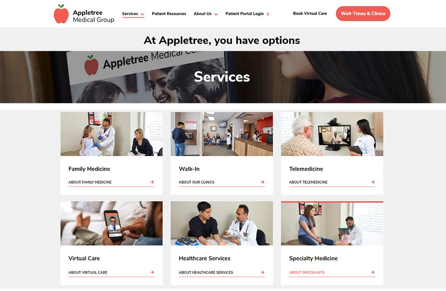 Appletree Medical Group online services