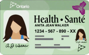 OHIP health card image