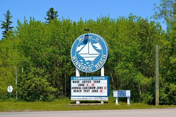 Winnipeg Beach Manitoba Welcome landmark
