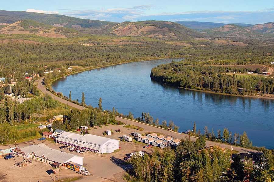 Carmacks Yukon landscape