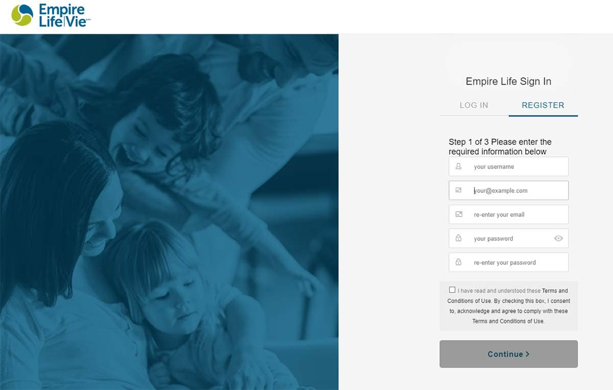 empire life insurance registration