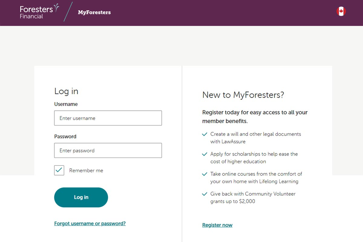 foresters financial login