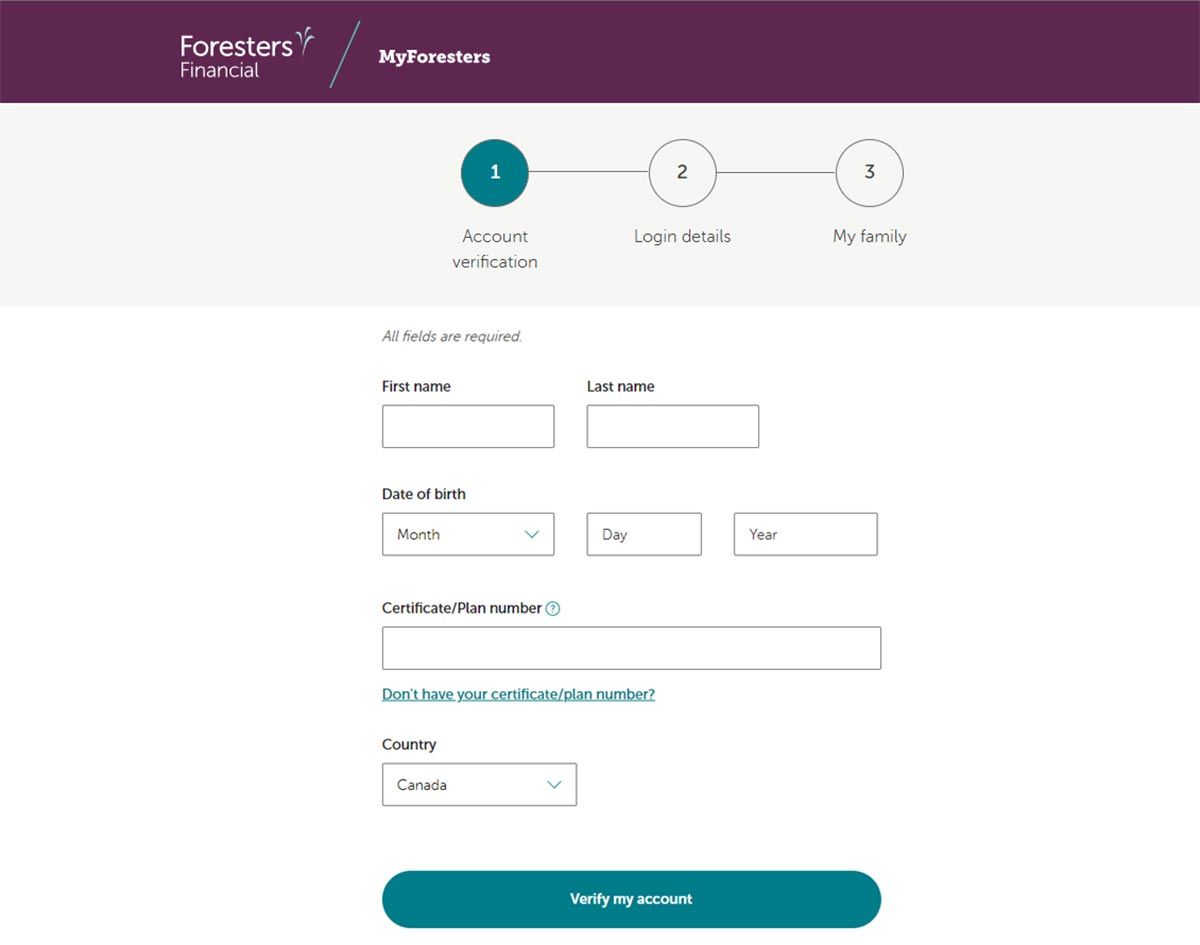 foresters financial registration