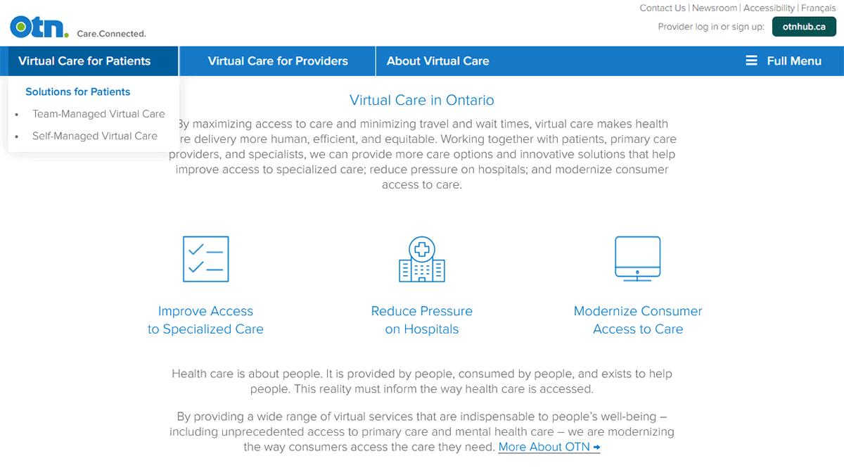 OTN virtual care services