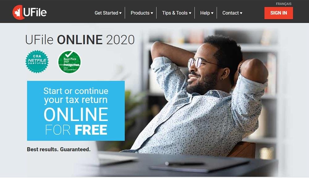 Ufile online tax free website