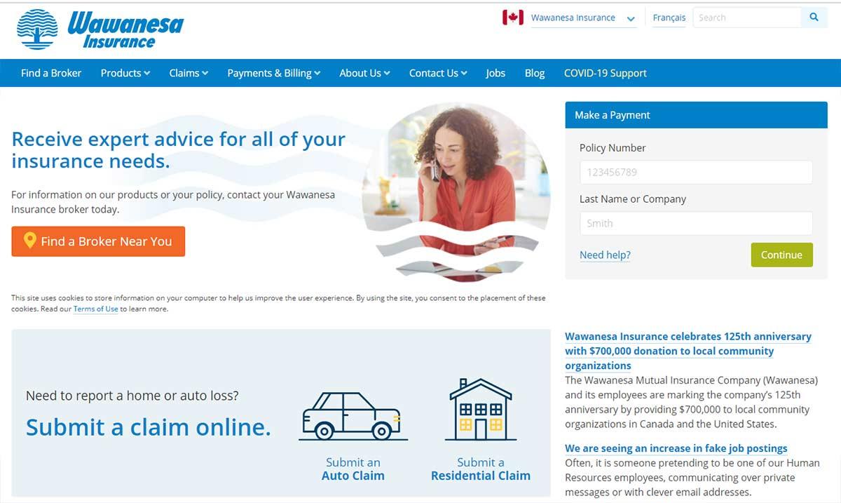 Wawanesa insurance website
