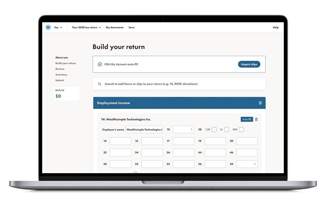 wealthsimple tax on macbook