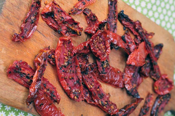 Sun dried tomatoes food for the stroke