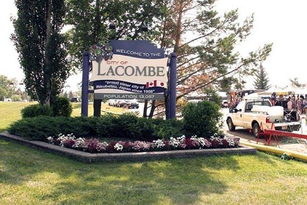 Lacombe Alberta Welcome Landmark