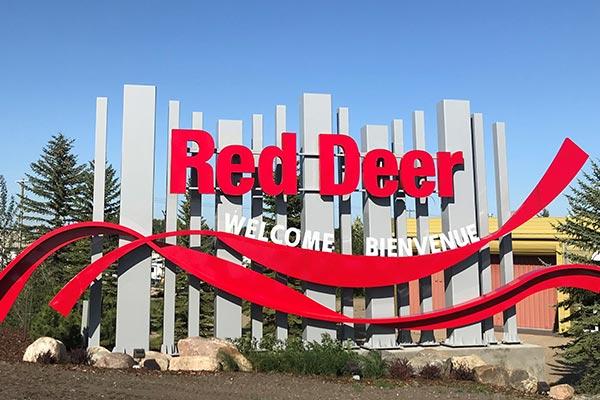Red Deer Alberta Welcome Landmark