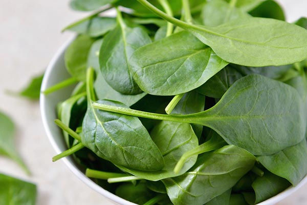Spinach food for the stroke