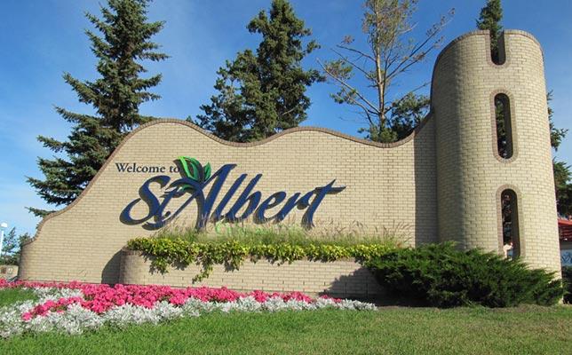 St Albert Alberta Welcome Landmark