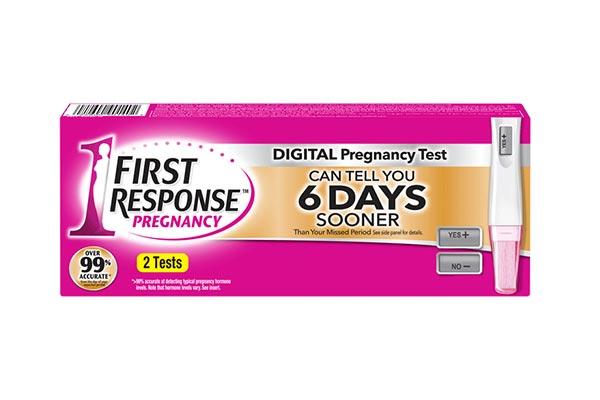 First Rresponse pregnancy test